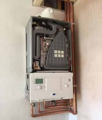 Combination Boiler Installation - Buxton's Guildford Plumbers work