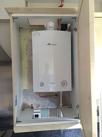 Gas Boiler Within A Cupboard - Farnborough, Hampshire
