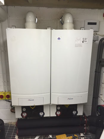 Two Boilers Used Within Commercial Premises