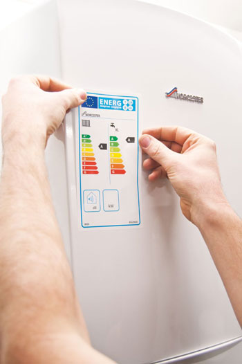 Boiler Installation With Efficiency Label